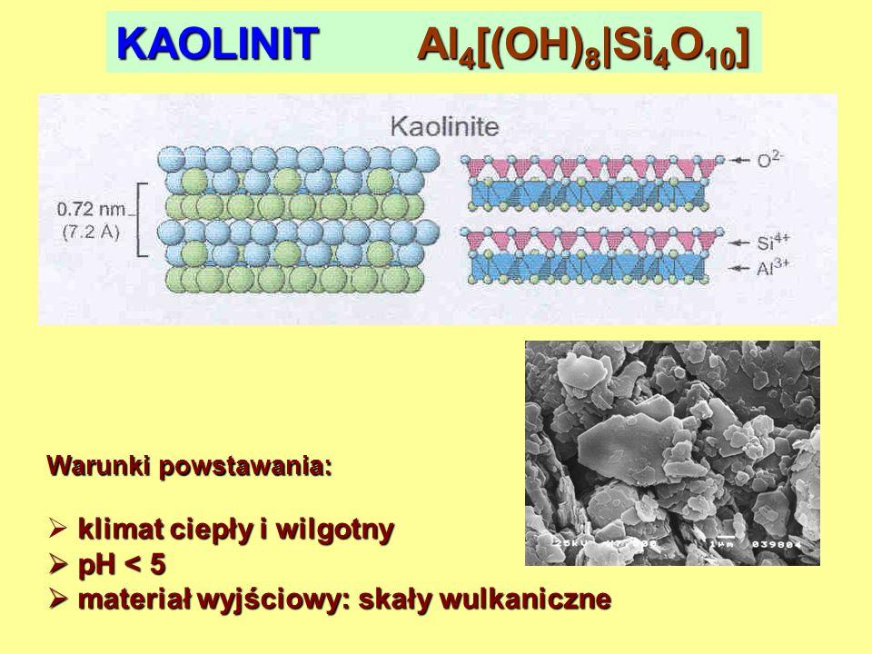 KAOLINIT Al4[(OH)8|Si4O10]